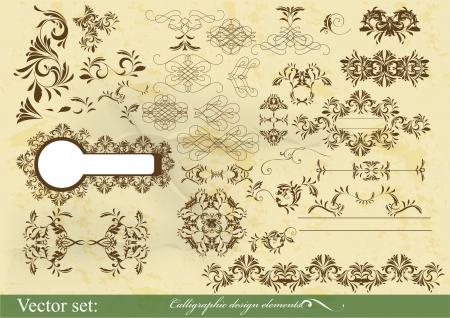 Decorative elements for elegant design  Calligraphic Stock Vector - 15688187