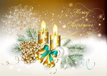 Elegant Christmas card  Christmas vector Stock Vector - 15820408