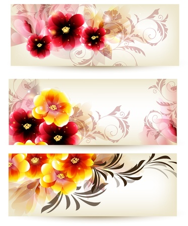 ornate swirls: Floral vector  cards