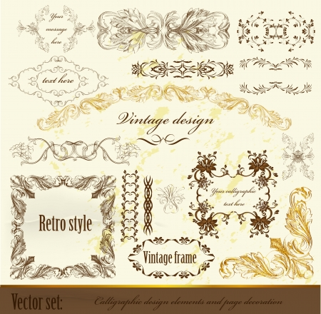 Decorative elements for elegant design  Calligraphic vector  Stock Vector - 15878139