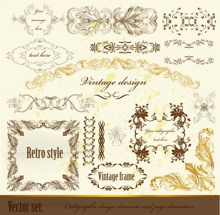 Decorative elements for elegant design  Calligraphic vector Stock Vector - 15878139