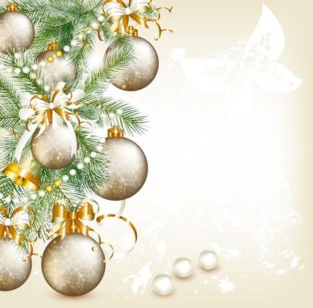 christmas cards: Elegant Christmas card  Christmas vector