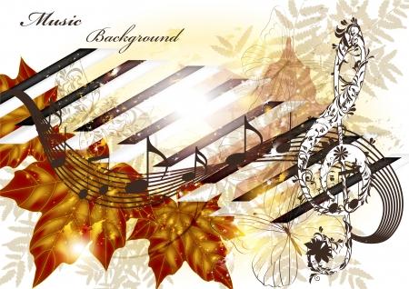 music conceptual background Vector