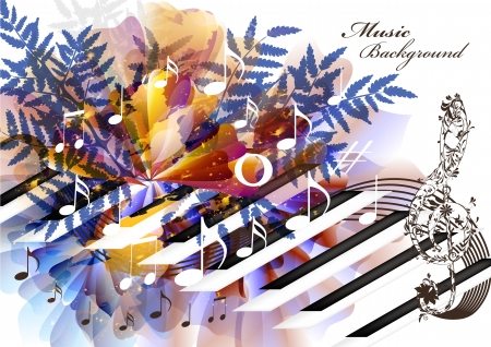music conceptual background Vector
