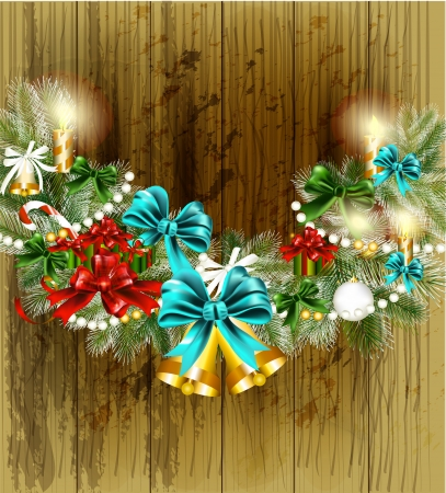 Christmas card with gifts  Christmas vector  Stock Vector - 16391410