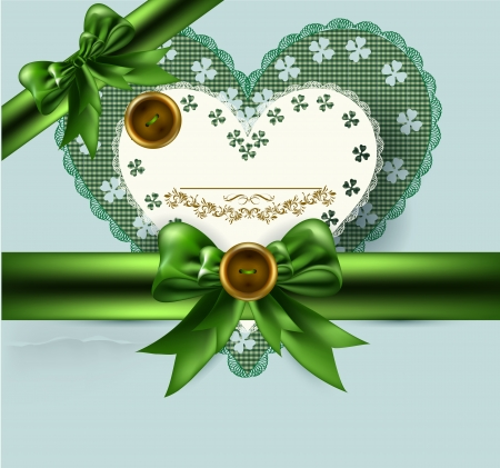 silk ribbon: Vintage elegant  background with bow and ribbon