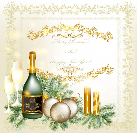 winter wish: Elegant Christmas card  Christmas vector