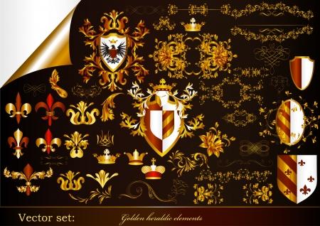 aigle royal: Éléments héraldiques de luxe pour la conception