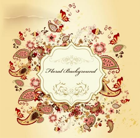 antique wallpaper: Floral