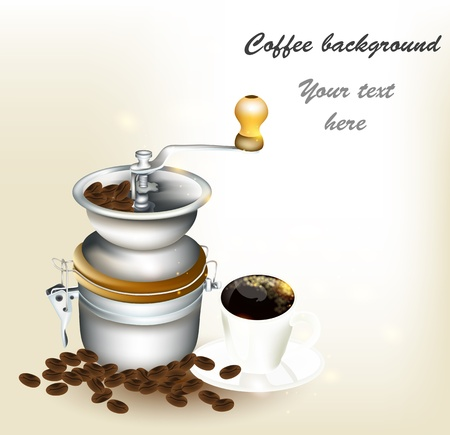 Vector background with coffee Stock Vector - 16766474