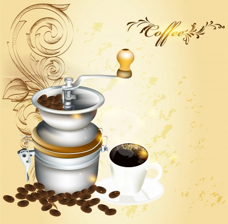 Vector background with coffee Vector