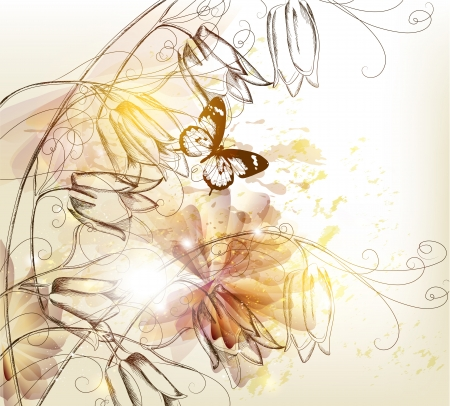 artistic flower: Floral vector Illustration