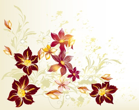 ornate swirls: Floral background