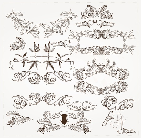 Decorative elements for elegant design  Calligraphic  Stock Vector - 16986954