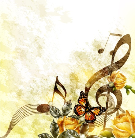 music banner: Muziek achtergrond Stock Illustratie