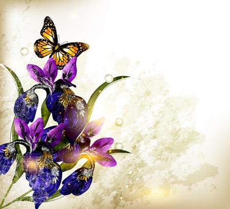 elegant border: Floral