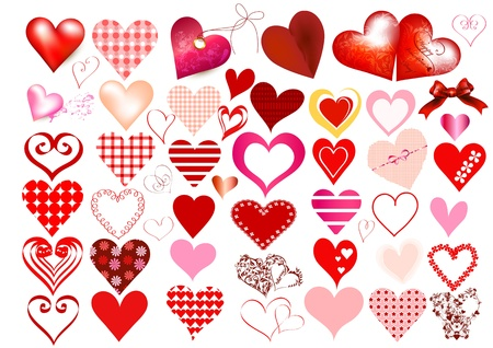 beloved: Collection of hearts for design