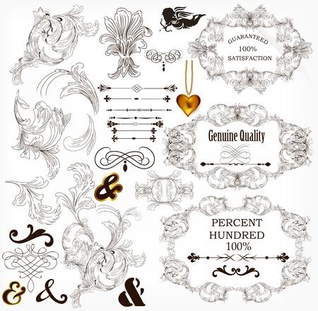 Calligraphic illustration Stock Vector - 17342060