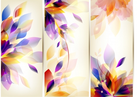 Set of floral cards Stock Vector - 17474951