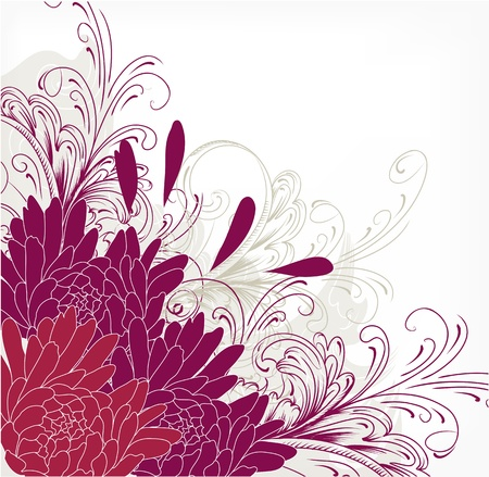 swirl border: Floral background