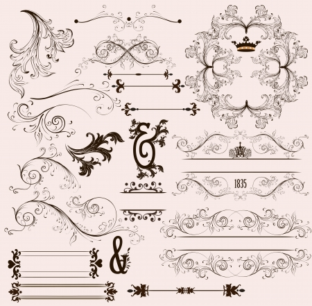 Calligraphic vector Stock Vector - 17641090