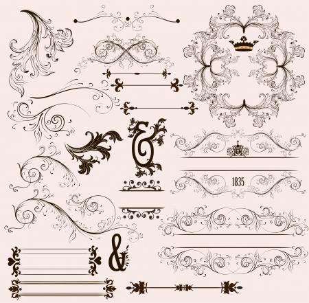 Calligraphic vector Stock Vector - 17641090