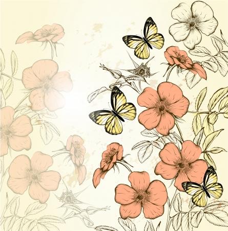 Floral  vintage vector Vector
