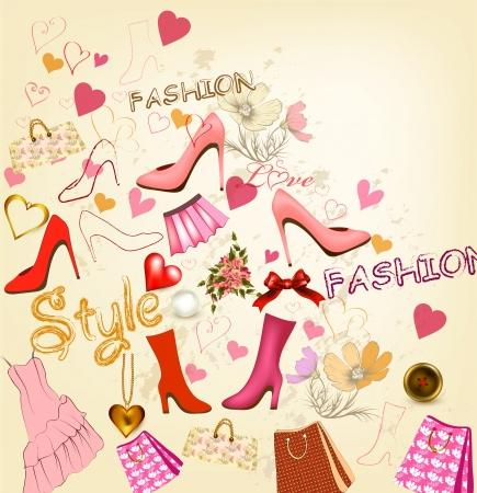 dress shoe: Fashion vector