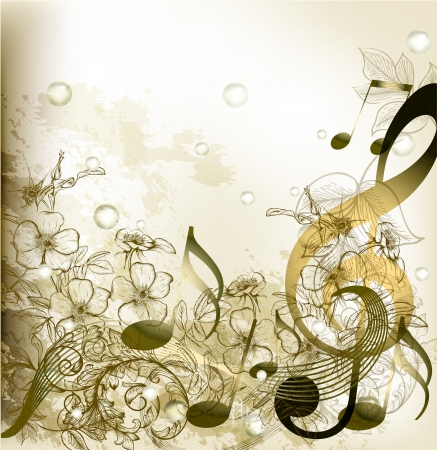 vintage music background: music conceptual background