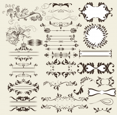 set of calligraphic elements for design Stock Vector - 18027398