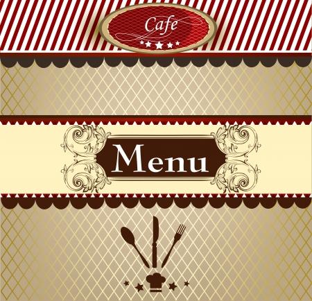 Cute menu design for cafe or restaurant in elegant style