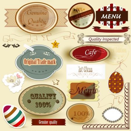Set of labels original, genuine, premium and guaranteed quality Stock Vector - 18255397