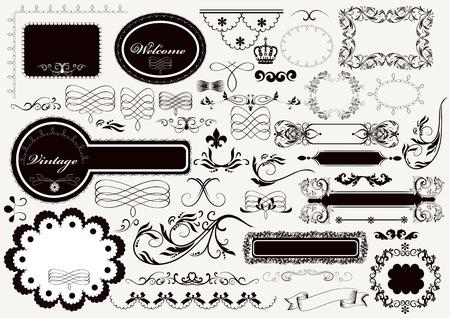 set of calligraphic elements for design  Calligraphic Stock Vector - 18401115