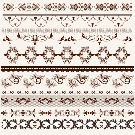 Decorative  borders for your  design  Calligraphic  Vector