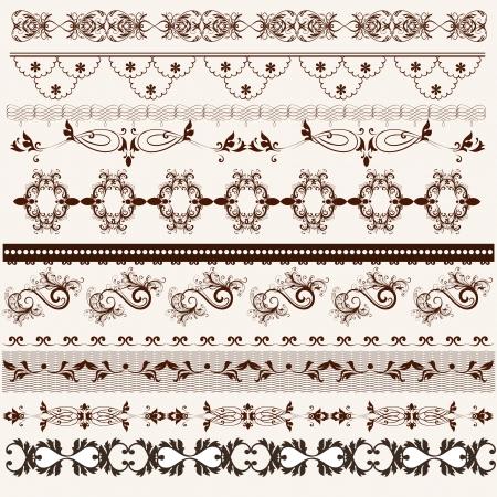 swirly: Decorative  borders for your  design  Calligraphic  Illustration