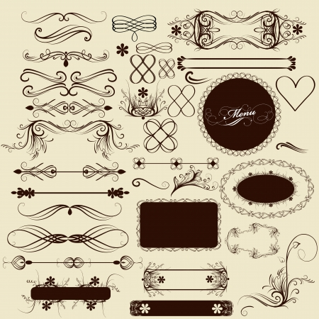 set of calligraphic elements for design. Stock Vector - 18990132
