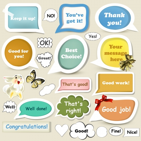 Set of vector speech baubles in retro style for your design Stock Vector - 19121315
