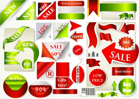 Vector set of vector labels for sale design  Stock Vector - 19121325