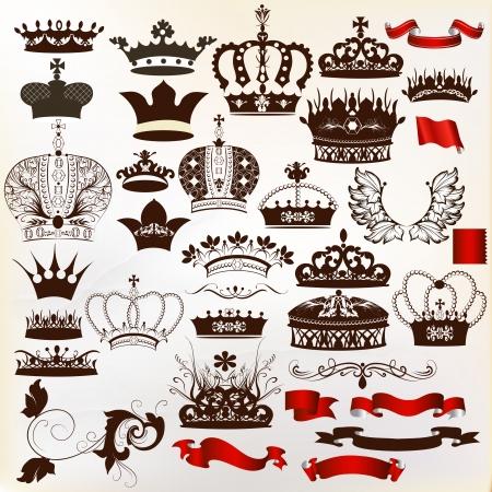 diadema: conjunto de coronas para el dise�o her�ldico