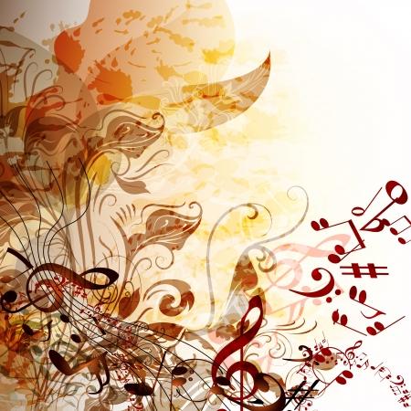 nota musical: Música de fondo creativo con notas para el diseño Vectores