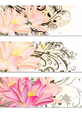 Vector set of business cards with colorful butterflies Vector