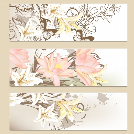 Vector set of floral brochures for your design Stock Vector - 19735403