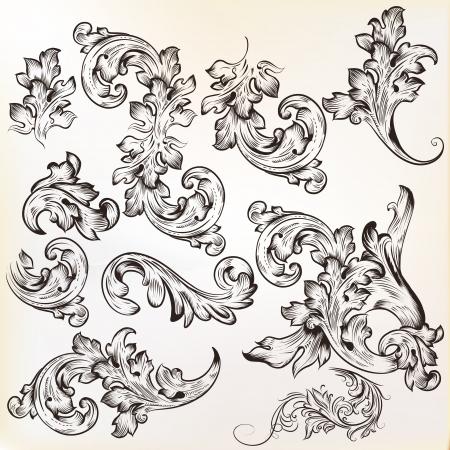 Satz von swirl Ornamente für Design Standard-Bild - 20230289