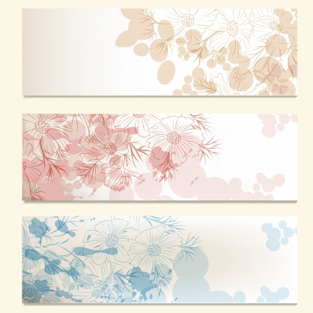 Vector set of floral brochures for your design Stock Vector - 20458794