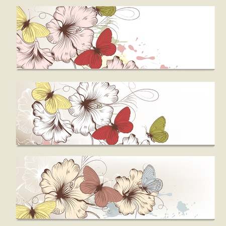 Vector set of floral brochures for your design Stock Vector - 20746494