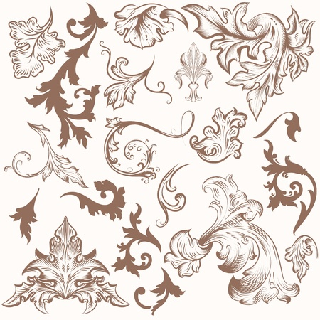 Vector set of calligraphic elements for design. Calligraphic vector Stock Vector - 20746499