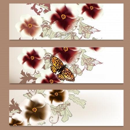 Vector set of floral brochures for your design Stock Vector - 20746516
