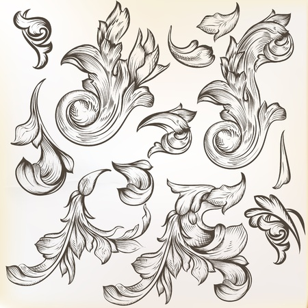 set of calligraphic elements for design  Stock Vector - 21130611