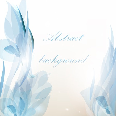 elegant backgrounds: Vector blue background for floral or business design
