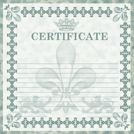 Certificate or coupon for document design  Certificate vector collection Stock Vector - 22545385